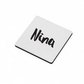 vierkante magneet met tekst