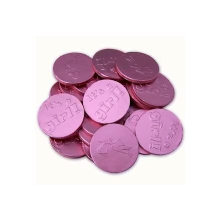 roze chocolademunten - 1 kg