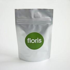 mat zilveren zakje + label