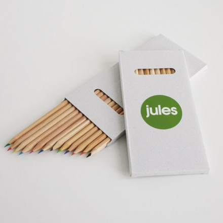 12 potloden + label