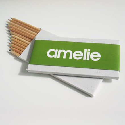 12 potloden + wikkel