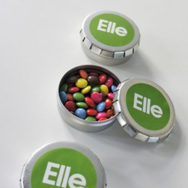 blikje mini smarties + label