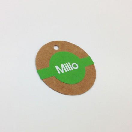 rond kraft kaartje + label