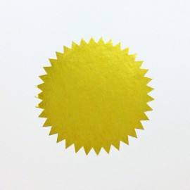 label deco star goud