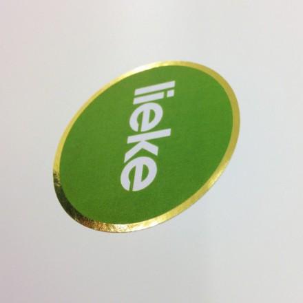 label 5cm met gouden rand